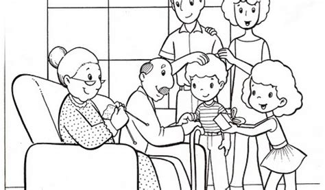 Preschool Coloring Pages About Families | family pages for preschool coloring pages