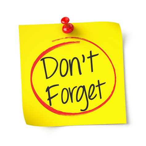 Dont Forget by Payment Deadline Reminder Magee Gammon