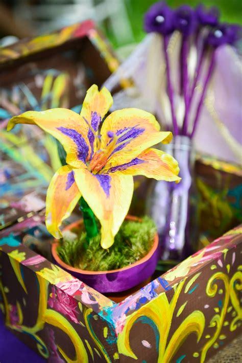 golden flower rapunzel tangled birthday party ideas