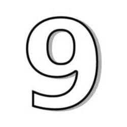 number 9 outline public domain image polyvore