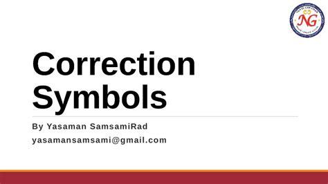 Essay Correction Symbols by Essay Correction Symbols
