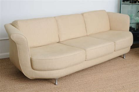 deep seated sofa comfortable and deep seated linen moroso sofa at 1stdibs