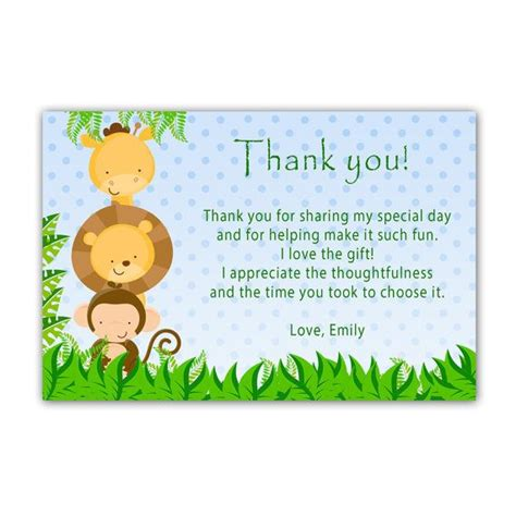 Thank You Card Template For Birthday Giveaways by 101 Best Images About Thank You Cards On