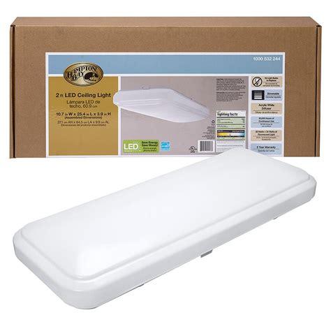 hampton bay      classic white rectangle led