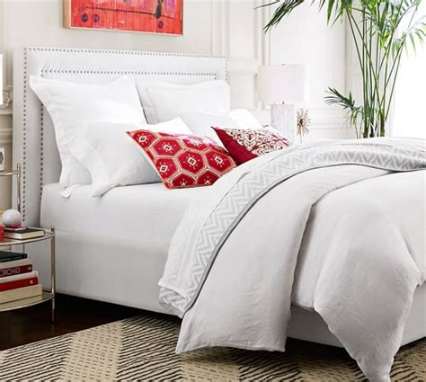 upholstered headboard pottery barn pottery barn best selling upholstered beds sale save up