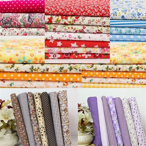 S Quilt And Sew by 7pcs Cotton Floral Fabric Vintage Quilt Pillow Table Cloth