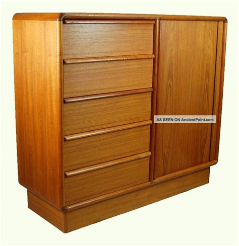 teak bedroom furniture kibaek mobelfabrik danish modern teak wardrobe dresser