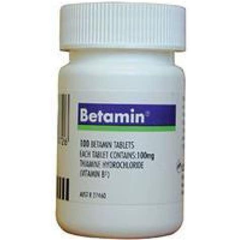 Thiamine For Detox by Betamin Thiamine Hydrochloride 100 Tabs Pharmacy 4 Less