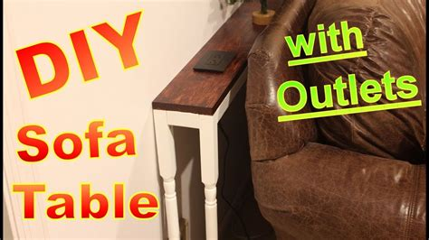 diy sofa table with outlet diy the table with outlet brokeasshome com