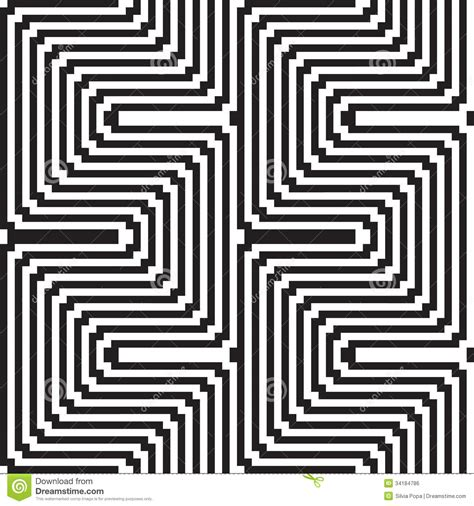optical pattern black and white pattern in black and white optical illusion stock