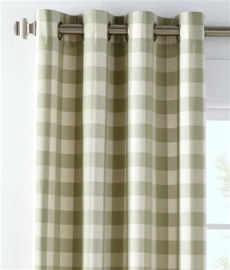 Buffalo Check Curtains Buffalo Check Grommet Top Curtains 119 95 189 95 Window Treatments Tops