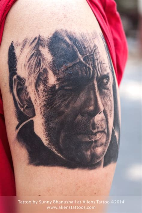 bruce willis tattoos bruce willis by at aliens mumbai