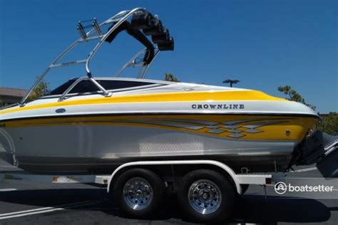 yellow tahoe boats rent a crownline boats 202 br yellow in tahoe city ca