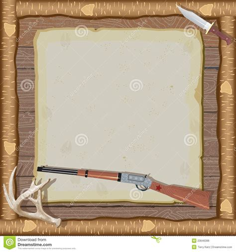 A Frame Cabin Plans Free hunting invitation with wood frame stock vector