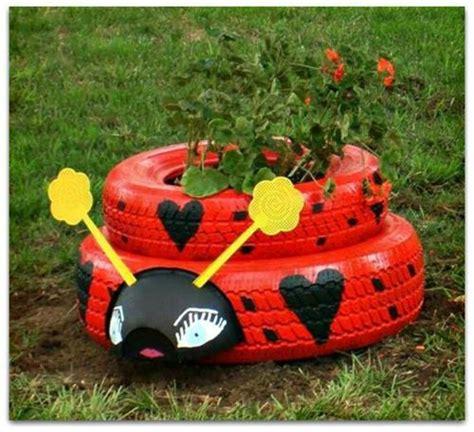 ideas para decorar un jardin con llantas de coche como hacer macetas para el jard 237 n con llantas recicladas