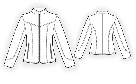 Pattern Making Leather Jacket | leather jacket sewing pattern 4296 made to measure