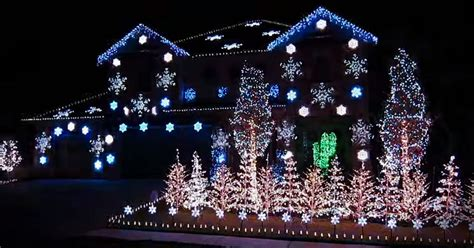 dramatic christmas light display set to what child is