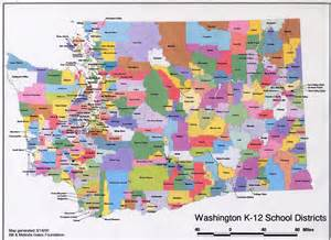 school districts in map washington school district