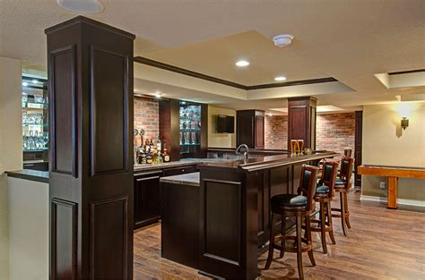 Small Kitchen Design Houzz by Sugarfoot Basement Finished Basement Company