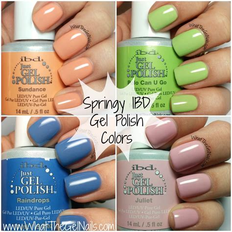 Ibd Gel by Springy Ibd Just Gel Colors