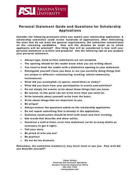 Personal Statement Scholarship Essay Exles by Personal Statement For Scholarship Application Sle