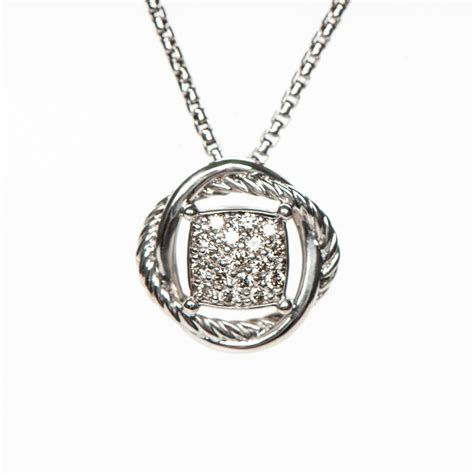 sterling silver infinity pendant necklace david yurman sterling silver 7mm infinity pendant