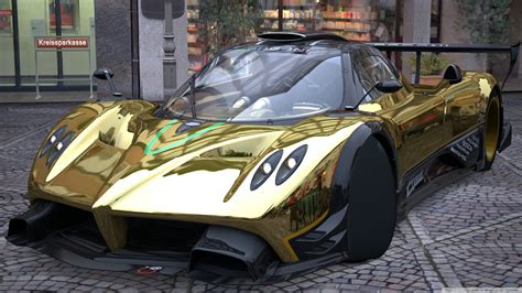 pagani huayra gold pagani zonda r gold 4k hd desktop wallpaper for 4k ultra