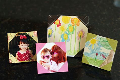 Picture Frame Origami - simple origami picture frames make and takes