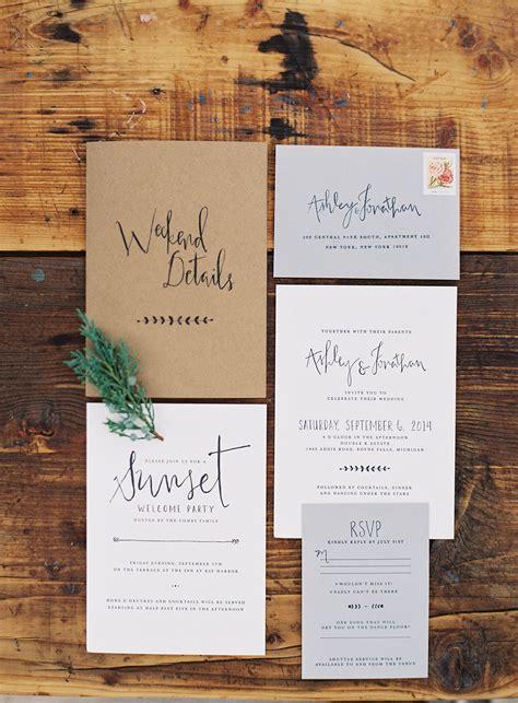 rustic chic estate wedding in northern michigan wedding invitations paper suite wedding