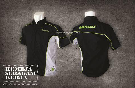 desain kemeja hitam keren contoh desain kemeja seragam kerja pt sancukonveksi