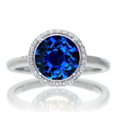 1 25 carat cut classic halo sapphire and