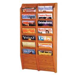 wooden mallet mr36 14 wall mounted 14 pocket magazine rack