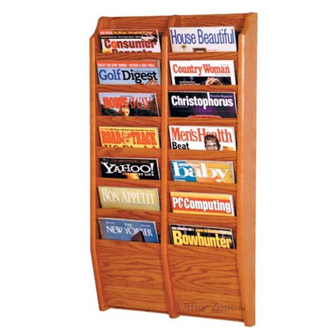 Magazine Rack by Wooden Mallet Mr36 14 Wall Mounted 14 Pocket Magazine Rack