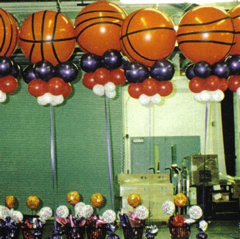 sports themed balloon decor 1000 images about basketball theme on themed