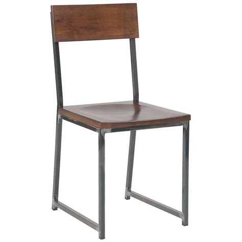 Patio Bar Height Table Industrial Series Metal Chair With Wood Back And Seat