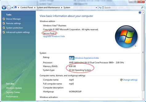 4 gb of ram why windows vista only sees 3gb memory in a pc with 4gb