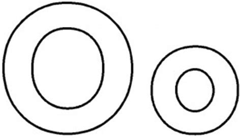Letter O Coloring Pages For Kids - Preschool and Kindergarten O Bubble Letters