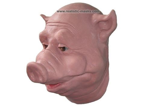 kostuum masker varkenskop