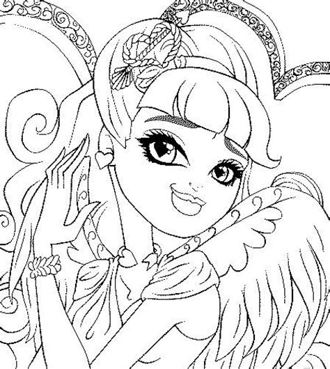 monster high coloring pages cupid c a cupid ever after high coloring page cool