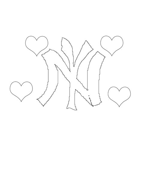 Free Yankee Baseball Coloring Pages New York Yankees Coloring Pages
