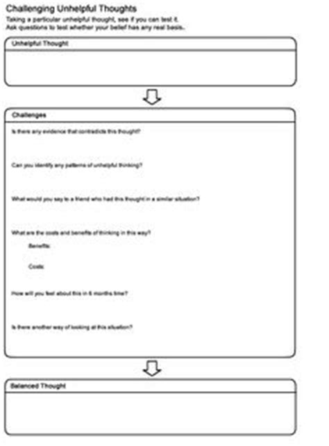 challenging cognitive distortions 18 best images of anxiety cbt worksheets child anxiety