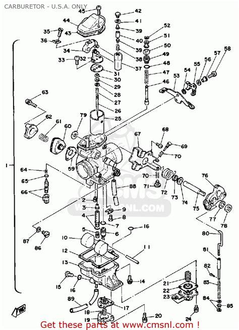 yamaha xt500 1979 usa canada instrument transformer wiring