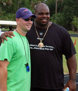 vince wilfork bench press heath evans palm beach county sports commission