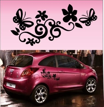 Cd Sticker Auto by 10pcs Butterfly Flower Vinyl Car Graphics Stickers Decals