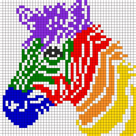 perler bead animal patterns rainbow zebra for perler or square stitch perler bead