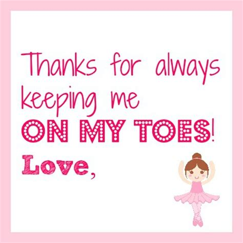 Printable Thank You Cards For Dance Teachers | ballet dance teacher gift idea pirouette cookies with