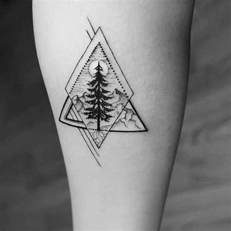 geometric tattoo mini realistic geometric tree tattoo design pinteres