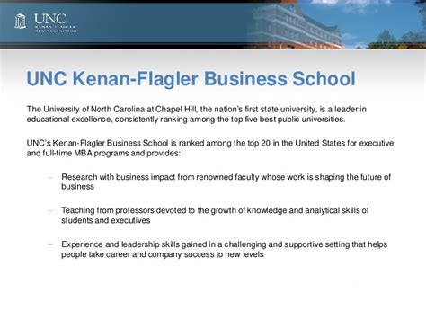 Unc Kenan Flagler Mba Ranking by Unc Leadership Survey 2013 High Potential Talent