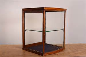 Shop Display Cabinet Vintage Antique Bow Fronted Mahogany Shop Display Cabinet