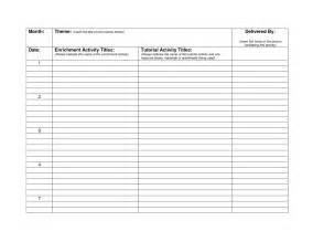 Monthly Lesson Plan Template Free by Best Photos Of Monthly Work Plan Project Work Plan